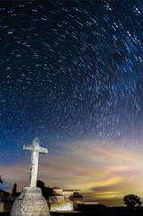 Crucero (noctuafoto) Tags: lightpainting church night stars noche tokina estrellas angular startrails perseidas