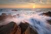 Effet de vague à la pointe du Châtelet #1 ~ Île d'Yeu [ Vendée ~ France ] (emvri85) Tags: sunset sea mer seascape zeiss rocks cliffs 15mm coucherdesoleil rochers falaises vendée yeu iledyeu wildcoast leefilters pointeduchâtelet d800e lespanrées