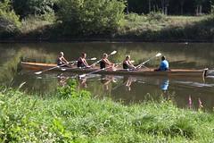 Wassersport: 4 : 1 (julia_HalleFotoFan) Tags: sport saale hallesaale ruderboot ruderer