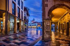 Avils, Asturias, Spain (dleiva) Tags: city architecture town hall calle arquitectura centro ciudad center aviles domingo arco hdr avils ayuntamiento leiva histrico dleiva