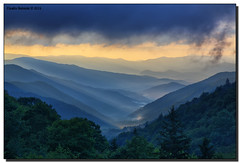 Sunrise (Fraggle Red) Tags: morning trees summer mountains fog clouds sunrise dawn nationalpark northcarolina hills overlook smokies hdr smokymountains greatsmokymountains greatsmokymountainsnationalpark oconalufteeriver us441 canonef24105mmf4lisusm 7exp dphdr oconalufteevalley canoneos5dmarkiii 5d3 5diii oconalufteevalleyoverlook adobephotoshopcs6 adobelightroom5
