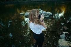 Click. (Philipp Sarmiento) Tags: blue sky people sexy fall feet nature water colors girl analog canon hair nude landscapes photographer legs no blonde 5d 28 24mm fullframe regensburg philipp kamera sarmiento