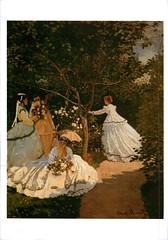 Claude Monet, Women in the Garden, 1866(reproduced), from Germany (MI.KA.TO.) Tags: art painting postcard postcrossing card claudemonet artcard 絵画 モネ クロード・モネ