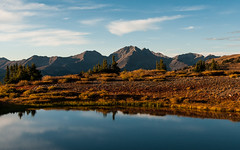 Cottonwood (Patrick.Russell) Tags: sunset sky mountains reflection nature water landscape outdoors prime pond nikon colorado outdoor explore cottonwood co vista serene elk d300 cottonwoodpass sawatch explored cloudsstormssunsetssunrises