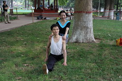 full split, People's Park, Anyang, China (vtpoly) Tags: china people ji faces extreme chinese culture martialarts master tai chi henan split stretching province flexibility chuan quan anyang polywoda