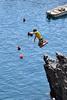 The Jump (erinakirsch) Tags: travel italy cliff swimming swim jumping rocks explore cinqueterre manarola fivelands rockjumping