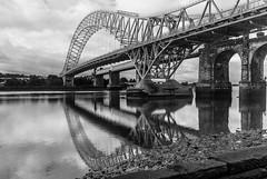 Silver Jubilee Bridge I (PaulEBennett) Tags: bridge blackandwhite mono mersey runcorn ref runcornbridge silverjubileebridge