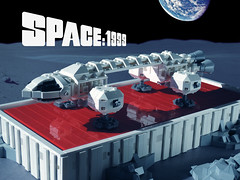 EAGLE 01 LEGO ((K_A) King_Arthur) Tags: show moon lune one tv noir lego eagle space 1999 modular scifi spaceship alpha moonbase ideas cosmos spacecraft transporter aigle