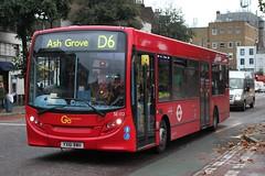 Go Ahead .Docklands Buses . SE 132 YX61BWH . Grove Road , Mile End , London , E3 . Wednesday 04th-November-2015 . (AndrewHA's) Tags: travel bus london public buses se transport east route 200 docklands passenger alexander dennis mileend dart 132 enviro tfl d6 adl goahead ashgrove cambridgeheath yx61bwh