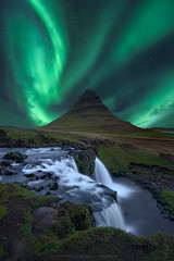 I L L U M I N A T I (CResende) Tags: travel sky green water night landscape flow lights waterfall iceland aurora nikkor northern kirkjufell borealis snæfellsnes solarwinds 1424 d810 cresende