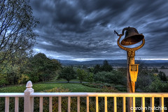 GrandMary's front porch, Hardy County WV (CarolynH527) Tags: mountains evening bell westvirginia porch hdr