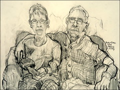 Mom and Dad 2014 (Kerry Niemann) Tags: family apachejunction pencilportrait
