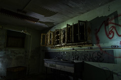 Decay in Letchworth (ronnymariano) Tags: ny newyork abandoned us lightsandshadows rust shadows unitedstates decay urbandecay creepy asylum urbex stonypoint 2015 abandonedplaces letchworthvillage directionallight