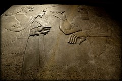 Details of a wall relief from Nimrud, housed in Scotland (Sumer and Akkad!) Tags: uk wall scotland edinburgh iraq nationalmuseumofscotland sword attendant mesopotamia assyria ashurnasirpal nimrud jamesyoungsimpson neoassyrian kalhu calah societyofantiquitiesofscotland