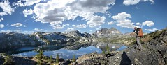 Garnet lake / Mt Ritter / Banner Peak - John Muir Trail - Sierra Nevada Mtns (Bruce Lemons) Tags: california ca lake mountains landscape hiking mark hike sierra wilderness sierranevada jmt anseladamswilderness johnmuirtrail bannerpeak mtritter