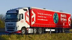 YN14 PKA (panmanstan) Tags: truck wagon volvo motorway yorkshire transport lorry commercial newport vehicle fh freight m62 haulage hgv curtainsider