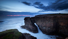 Twilight at Yesnaby cliffs (Premysl Fojtu) Tags: yesnaby mainland island orkney scotland uk september 2016 sea seascape northsea water waterscape waves landscape cliff cliffs rock sky colour blue arch natural nature twilight evening lowlight goldenhour dusk countryside country rural coast coastline shore shoreline breathtaking beautiful blurred longexposure ndfilter 32x hoya dslr canon eos 5dmkii fullframe ef1740 wideangle dreamscape dreamy clouds