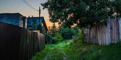 Demidovo (e.glasov) Tags: russia russiansoul moscowregion road nature village house architecture fence sunset beautiful sky