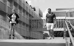 Don't wear this shoes! (maxmedl) Tags: street streetfotography streetfotografie man woman mann frau rollerblades shoes schuhe monochrome people leute menschen gente