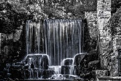 Ancaster Mill Waterfall (C. Wendorf) Tags: blackandwhite canon 10d waterfall ancaster ancastermill