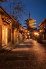 Yasaka Pagoda and Sannen-zaka Street (Kwanchai_K) Tags: yasaka pagoda kyoto japan night cityscape twilight old town ancient