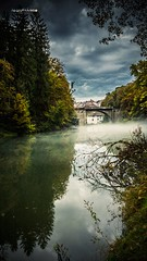 Walking near the Ain river... (Jean McLane) Tags: river ain franchecomt france mist brume water reflects reflets reflejos