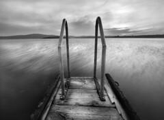 Old pier (Ingrid Ugussi Vukman) Tags: croatia windyday blackwhite istria longexposition adriaticsea mediterraneansea