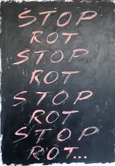 Stop,Rot,  2016 (foggodavid) Tags: stop rot pink black repetition acryliconcanvas davidfoggo