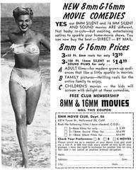 1955 8MM Movie Club (Tom Simpson) Tags: vintage ad ads advertising advertisement vintagead vintageads bikini boobs woman sexy beach ocean 1950s 1955