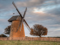 Autumn Sunset on Bembridge Windmill (Jonathan Saull) Tags: isleofwight bembridge windmill nationaltrust olympusomdem1 olympusmzuiko1240mmedf28 hdr photomatix lightroom historic sunset sunlight