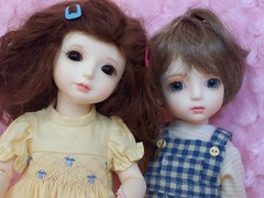 Joscelyn and Edmund (whisperwolf16915) Tags: customhouse petiteai bjd doll gabriel petiteaigabriel uriel petiteaiuriel