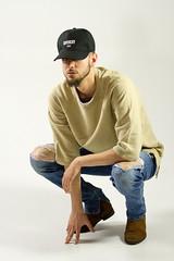 IMG_0936 (sabrinafvholder) Tags: man male hat hipster studio portrait young givenchy sabrinavazholder