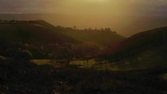 Valley of the shadow (Sundornvic) Tags: shropshire light sun clouds hills valleys gorse sky
