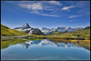 Grindelwald ,The Bachalpsee  A view to the Wetterhorn & the Finsteraarhorn & the Mighty Eiger. No. 9077. (Izakigur) Tags: eiger europa wetterhorn berneroberland d700 dieschweiz nikond700 nikkor2470f28 reflection alps alpes alpen alpene alpi grindelwald izakigur flickr feel fixyou coldplay myswitzerland musictomyeyes ilpiccoloprincipe thelittleprince thejungfrauregion hiking summer green blue ch cantonofbern kantonbern lac lake bachalpsee bachalp interlaken swiss svizzera switzerland suizo suïssa suisia suiza helvetia
