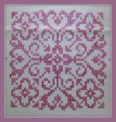 Stickerei (blasjaz) Tags: blasjaz embroidery muster gröse10x10cm leinen tischdecke kreuzstich crossstitch stickerei kreuzstichstickerei