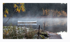 Morning Mist. (47mki) Tags: scotland lochrusky trossachs mist boat autumn