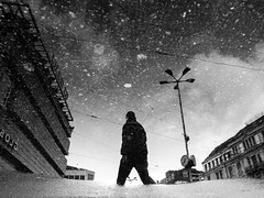 the stars in your head (matthias hämmerly) Tags: matthias hämmerly haemmerly switzerland world street photography shoot black white bw candid going collecting story faces journalism real honest moments decisive moment creative lens scene strassenfotografie frame man ricoh gr gr2 2 reflection water rain cold winter