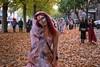 Bridal March (Silver Machine) Tags: bristol bristolzombiewalk2016 zombie bride girl walking autumn autumnleaves streetphotography street streetportrait streetparade fujifilm fujifilmxt10 fujinonxf35mmf2rwr