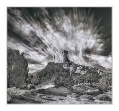 On Route 89 West of Page, AZ (Vincent Galassi) Tags: lasvegas nevada usa onroute89westofpage az 07pentax645d pentax6735mm 160s f16 iso100 landscape black white sky
