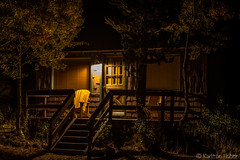 Fall Colors - Tamarack Lodge Cabin at Night #1 (www.karltonhuberphotography.com) Tags: 2016 cabin california earlymorning easternsierra fishingcabin getaway horizontalimage karltonhuber light lowlight mammothlakescalifornia mystery night nightphotography paintingwithlight peaceful porch relaxing romance rustic shadows solitude tamaracklodge weekendgetaway