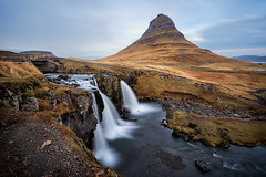 Magnificent Kirkjufell (Pete Rowbottom, Wigan, UK) Tags: grundarfjorour kirkjufell iceland westiceland icelandic landscape mountain waterfall waterfalls falls water outdoor scandinavian peterowbottom cliffs coast coastline sea river highmountain cloudmovement slowshutterspeed slowshutter longexposure longexposurelandscape nikond750 watermovement wideangle autumn europe amazing scenery scenic beautiful iceage geological conical unusual dramatic inexplore explored