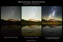 Night at Echo Lake BTS (miketaylorphoto) Tags: milkyway newhampshire echo lake nightphotography