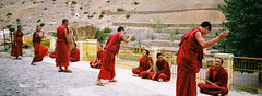 Kee monastery, spit valley (pavkia) Tags: rosso kee spiti valley monastery mountain monks india red analog film color kodak