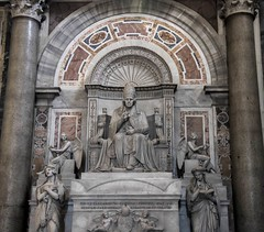 On His Throne (noname_clark) Tags: italy rome vacation honeymoon vatican basilica pope tomb scuplture