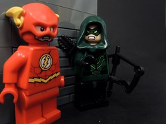 We End up the Creek! (MrKjito) Tags: lego minifig cw crossover flash arrow green 4 night invasion dominators barry allen oliver queen bro bromance end up creek