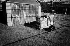 left out to rust (fallsroad) Tags: shed machine rust rusty rusted corrosion bw blackandwhite nikond7000 tulsaoklahoma decay abandoned