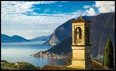 Pure Italy III (ELtano86) Tags: iseo brecia bresciatoday lago eltano86 campanile landscapes landscape lake mountain mountains italy sebino sunset