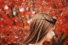 (Mary Jo.) Tags: wind windy hair red fall colors maryjo mj canon 60d 50mm bokeh autumn