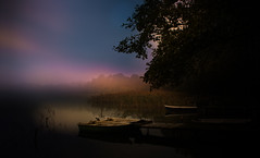 Autumn (augustynbatko) Tags: autumn lake boats water climate nature view tree sky fog mist outdoor