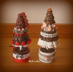 alberelli di natale (Helenadea) Tags: decor natale christmas craft tree alberello